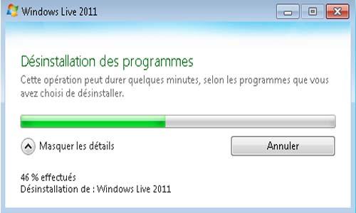 supprimer windows live