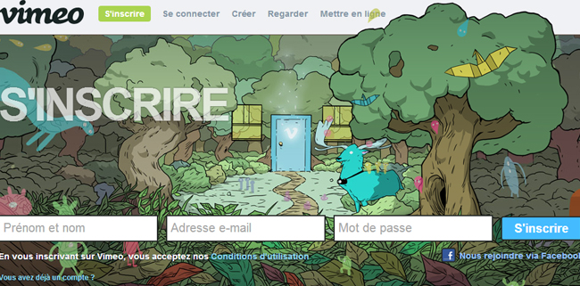 creation compte vimeo