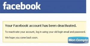 désactiver compte-fb