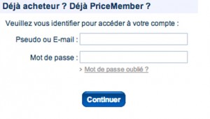 gestion compte priceminister