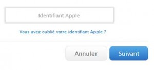 identifiant apple store