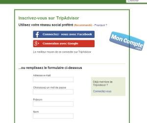 inscription compte tripadvisor