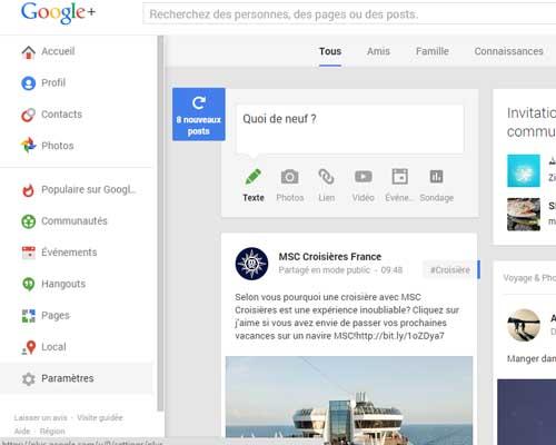 effacer compte google plus
