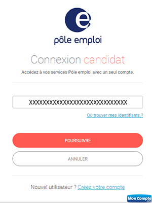 connexion candidat pole emploi