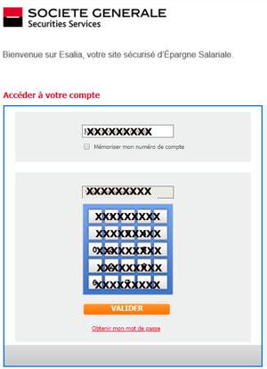 www.esalia.com mes alertes, mon compte