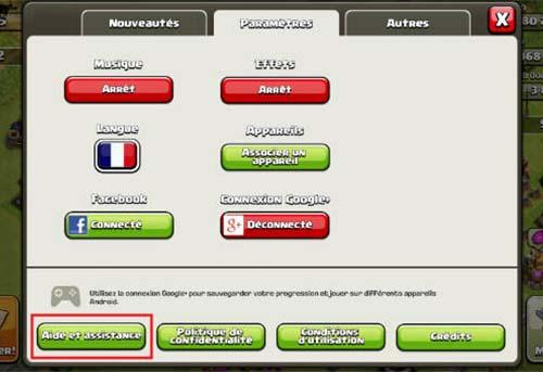 récpérer village clan of clashs