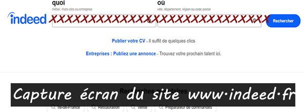 site de recherche d'emploi www.indeed.fr