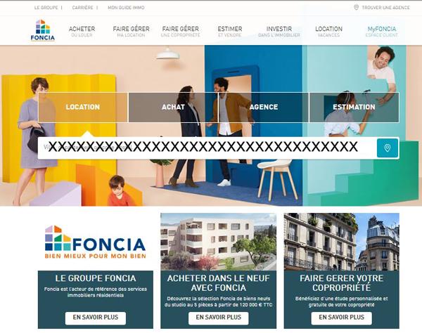 accès à un compte myfoncia sur le site foncia.com