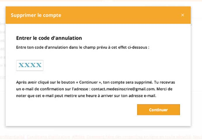 suppession compte becoquin