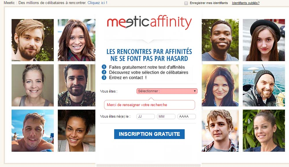 meetic se connecter