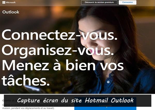 se connecter à hotmail sur le site www.outlook.com