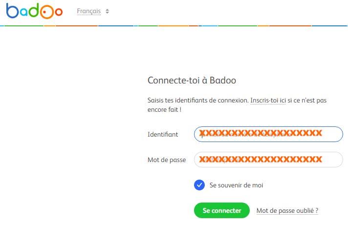badoo se connecter