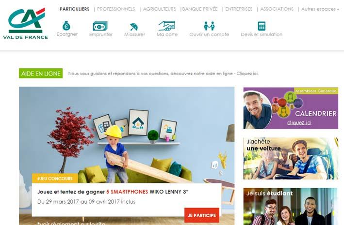 Crédit Agricole Val de France en ligne