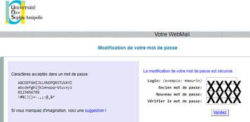 Problèmes de connexionUnice Webmail