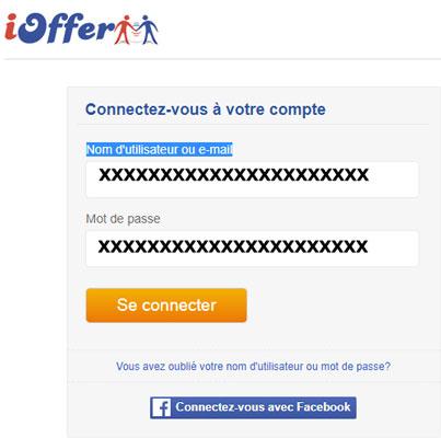 connexion compte ioffer.com/fr