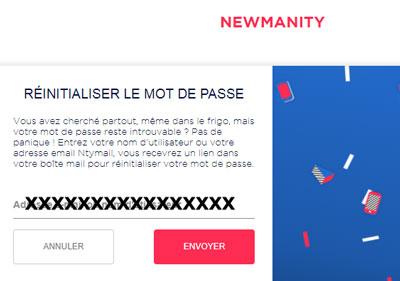 Problème d'identification newmanity mail