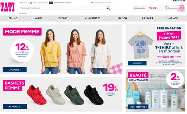 suivi commande sur le site tati.fr