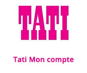 accès commandes et compte Tati en ligne
