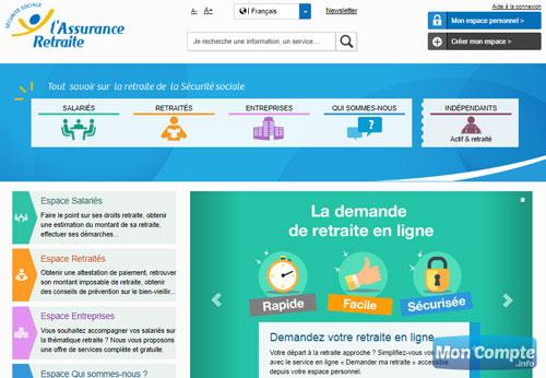 site assureur retraite lassuranceretraite.fr