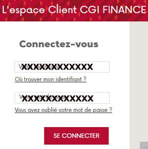 Accès CGIEspace client en ligne