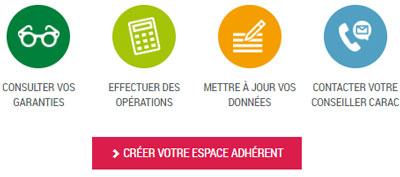 créer espace adhérent carac.fr