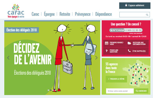 www.carac.fr site mutuelle épargne