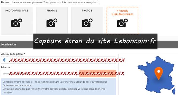 Déposer une annonce sur le site www.leboncoin.fr