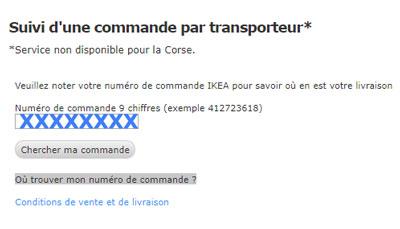 Suivi de Commande IKEA sur www.ikea.fr