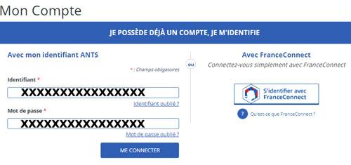 www.ants.gouv.fr Mon Compte en ligne