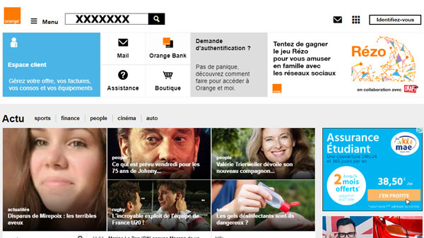 site officiel www.orange.fr/portail