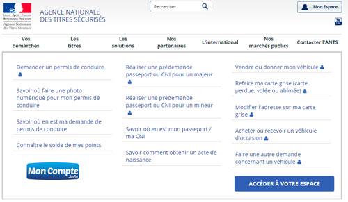 portail www.ants.gov.fr