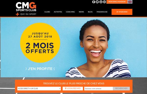 site CMG sport club en ligne