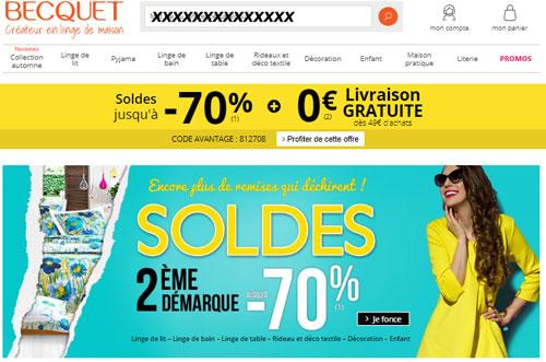 www.becquet.fr site boutique