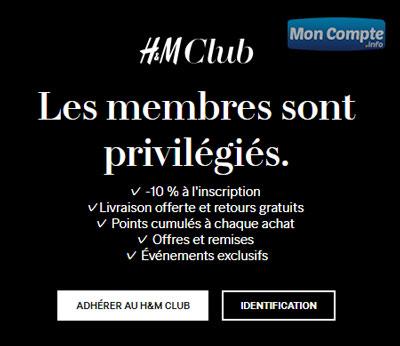 Adhésion H&M Club