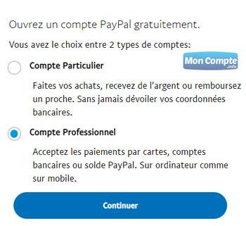 Comment créer un compte Paypal Pro?