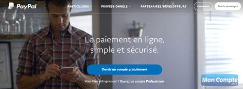 ouvrir compte pour professionnel sur le site www.paypal.com/fr