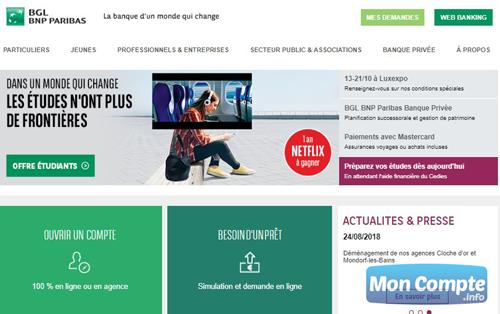 www.bgl.lu/fr site officiel BGL BNP Paribas
