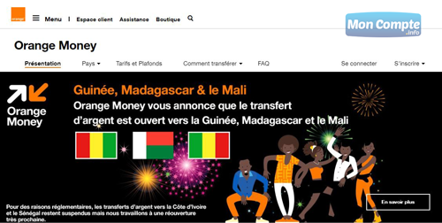 portail web orangemoney.orange.fr