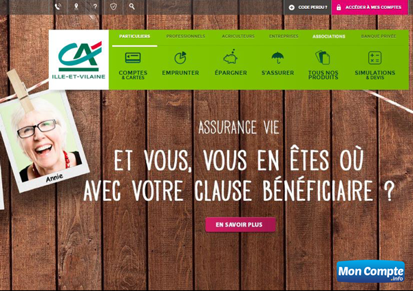 www.ca-illeetvilaine.fr consulter les comptes