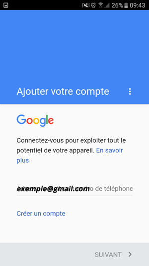 ouvrir compte sur play store