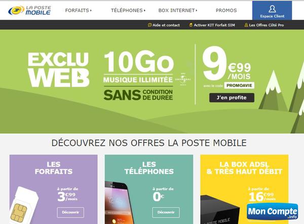 site www.lapostemobile.fr