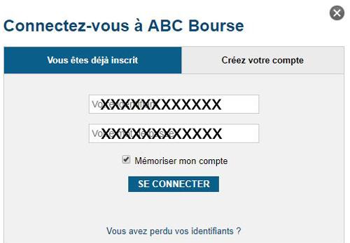 abc bourse connexion