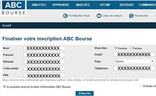 ouvrir un compte ABC Bourse