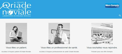 www.oriade.fr mes résultats