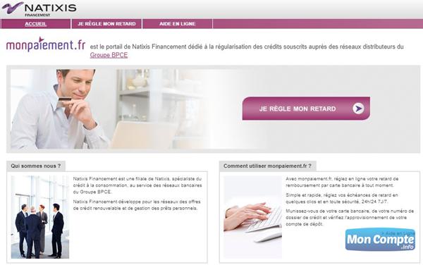 www.monpaiement.fr portail natixis financement