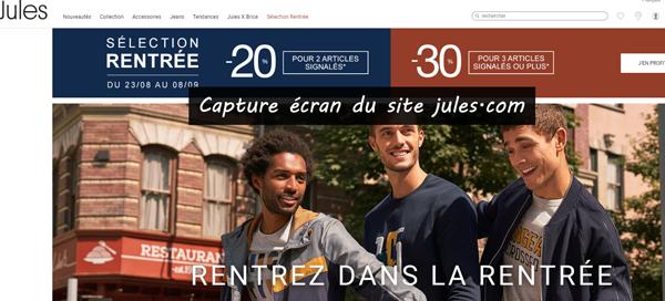 jules.com : magasin en ligne