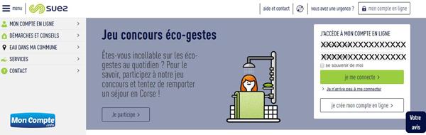 accès compte la lyonnaise des eaux sur www.toutsurmoneau.fr