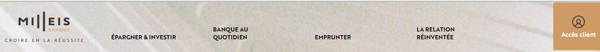 portail milleis banque sur internet