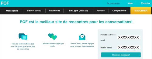 se connecter à un profil pof.fr