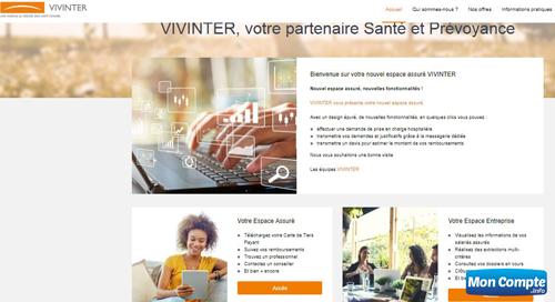 site de gestion frais santé : www.vivinter.fr